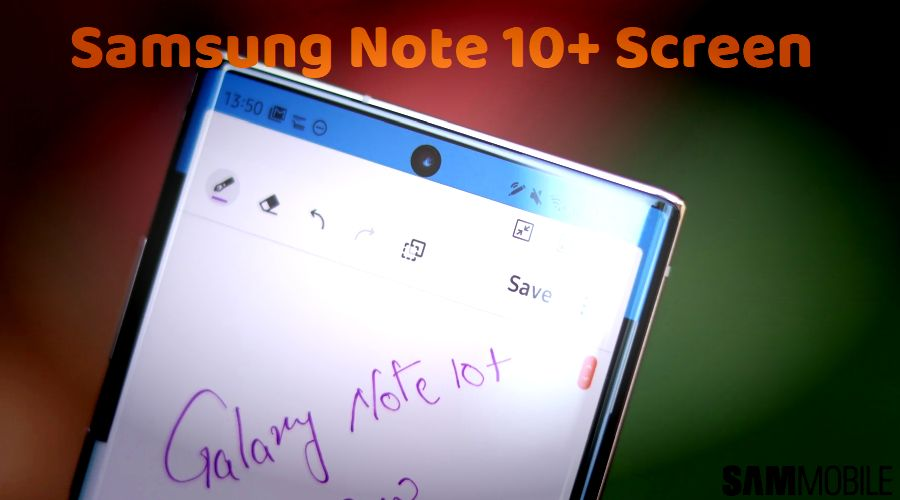 Samsung Galaxy Note 10 plus screen
