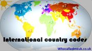 List of International country codes